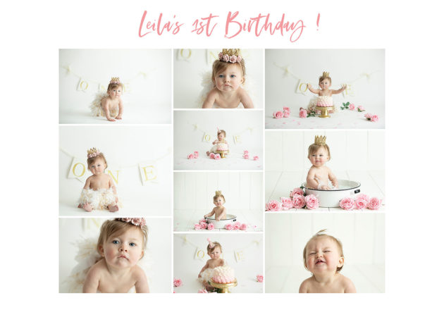 first birthday collage